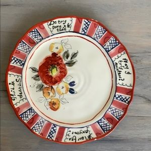 Anthropologie hand painted salad plate